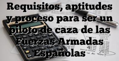 Requisitos, aptitudes y proceso para ser un piloto de caza de las Fuerzas Armadas Españolas