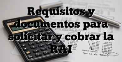 Requisitos y documentos para solicitar y cobrar la RAI